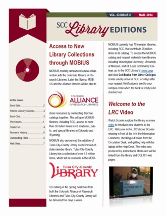 Library Editions Spring 2014